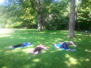 Meditating in a park - Connect with Mother Nature