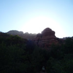 Sedona 2013. Sunset, Ballar Canyon near the Knoll Vortex